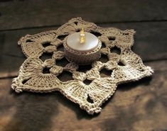Crochet snowflake candle coaster,tealight holderMaterial: cotton Dk knitting yarn: color optional crochet hook Abbrevation: MR- Magic ring chain- ch slip stich- sl st sc - single crochet double crochet- Dc treble crochet- Trc Cluster from 6 Dc- Crochet Necklace Pattern, Crochet Mandala Pattern, Crochet Hooks, Crochet Patterns, Double Crochet, Single Crochet, Crochet Fall, Crochet Decoration, Crochet Snowflakes