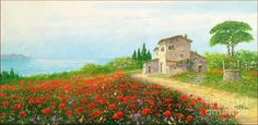 Poppy Hill Painting by Luciano Torsi