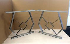 Design Dining Table Legs Set of 2 Steel Legs Modern Table