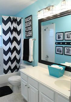 Colorful Bathroom Design Ideas #bathroom #bathroomdesign #bathroomideas #colorfulbathroom #bathroomsmall #smallbathroom