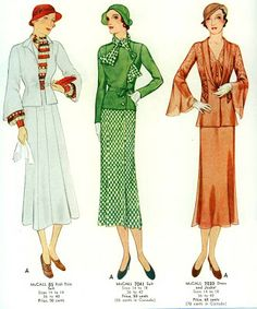 McCall Patterns: Designs for Spring 1934.
