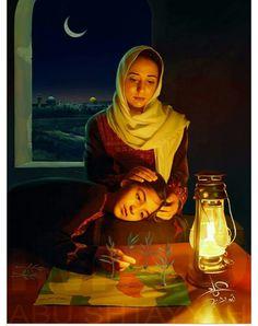 لوحة للفنان الفلسطيني الاردني عماد ابو اشتية