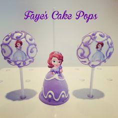 Sofia the First Cake Pops Disney Princess by Faye's Cake Pops