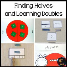 Doubles and Halves (Montessori Inspired) hands on self correcting basic facts. Montessori Math, Montessori Elementary, Montessori Materials, Elementary Math, Upper Elementary, Counting Activities, Hands On Activities, Student Learning