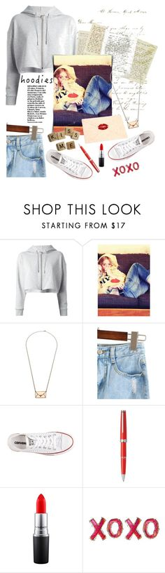 """""""Four Page Letter"""" by mmk2k ❤ liked on Polyvore featuring Yves Saint Laurent, Rebel Yell, Love Quotes Scarves, MANOLO, Converse, Montblanc and MAC Cosmetics"""
