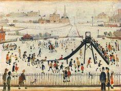 Childrens Playground έργο του L. S. Lowry που απεικονίζει μια παιδική χαρά με παιδιά που παίζουν και γονείς που προσέχουν και περιμένουν τα παιδιά τους και η τιμή του είναι από £500,000 εως και 700,000.