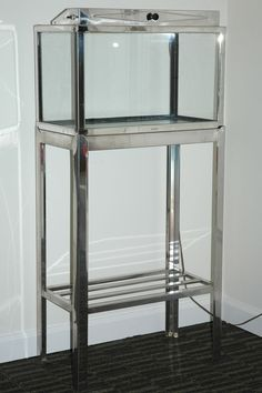 Pemco Vintage Aquarium & Fish Tank Stand 10-gal Stainless Steel W Reflector Hood