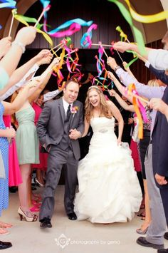 Wedding Photo Ideas - Awesome exit with ribbons Fun Wedding Photo Ideas - Awesome exit with ribbons , Fun Wedding Photo Ideas - Awesome exit with ribbons , 10 Wedding Exits Guests Will Always Remember More Wedding Wands Set of Wedding Send Off, Wedding Exits, Wedding Ceremony, Our Wedding, Wedding Venues, Wedding Photos, Dream Wedding, Wedding Ribbon Wands, Wedding Ribbons