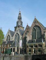 Amsterdam tourist attraction Oude Kerksplein