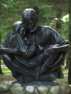 Modern Statues of St. Joseph For Dad on Father's Day | joy of nine9  (this is one of my favorite statues of the Holy Family. If anyone can tell me who the sculptor is I would love to know. At one time small table top versions were available)