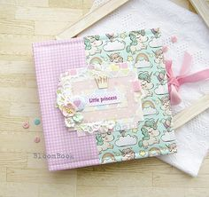 A perfect gift for a little princess and her parents - a baby photo album! This cute baby album will suit a girl of any age and help to save all the wonderful moments of her childhood! PERSONALIZATION OF THE ALBUM: If you want, I can replace the inscription LITTLE PRINCESS in the name of