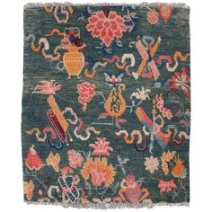 Shop chinese and east asian rugs and other antique and modern rugs from the world's best furniture dealers. Tibetan Dragon, Buddhist Symbols, Asian Rugs, Tibetan Rugs, Rugs On Carpet, Carpets, Interior Rugs, Tribal Rug, Modern Rugs