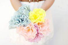 Bouquet de papel crepé - Blog de bodas de Una Boda Original