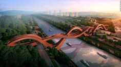 """<a href=""""http://www.nextarchitects.com/en/what/2016/"""" target=""""_blank"""">NEXT Architects</a>' Lucky Knot Bridge is set to open later this year. The name and shape refer to the Chinese art of decorative knotting, which is associated with good luck."""