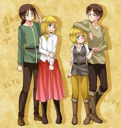 Christa Renz, Ymir (Shingeki no Kyojin), Armin Arlert, Eren Jaeger
