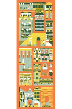 Beautiful illustrations from Lotta Nieminen - wanna buy all the the posters of my home town, Budapest!