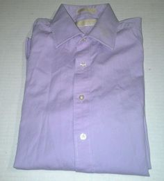 Michael Kors mens light purple lavender dress shirt size 15 1/2 32 33 in Clothing, Shoes & Accessories, Men's Clothing, Dress Shirts | eBay