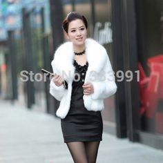 Fur faux fur coat mink hair rex rabbit hair cape jacket black and white fur overcoat imitation rabbit fur faux fox collar|451a4e4f-17df-445f-ac12-a66266c6a524|Fur & Faux Fur
