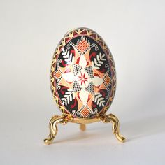 Check out this item in my Etsy shop https://www.etsy.com/ca/listing/77855327/traditional-pysanka-egg-with-cross