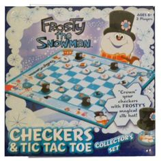 Frosty the Snowman Checkers and & Tic Tac Toe Tin Collector's Set by USAopoly, http://www.amazon.com/dp/B005JSYHIE/ref=cm_sw_r_pi_dp_1VqSrb1AACX24