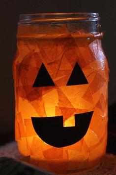 Light Up These Pumpkin Mason Jars - WomansDay.com