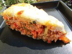 pastel de calabacin y carne