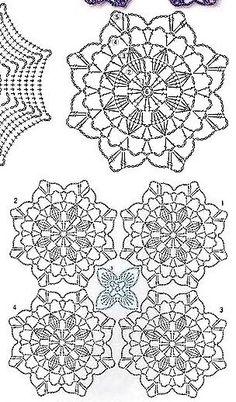 Transcendent Crochet a Solid Granny Square Ideas. Inconceivable Crochet a Solid Granny Square Ideas. Free Crochet Square, Crochet Motifs, Granny Square Crochet Pattern, Crochet Diagram, Crochet Chart, Crochet Squares, Crochet Doilies, Crochet Flowers, Crochet Stitches