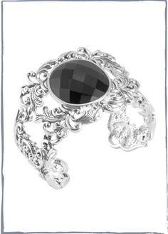 Dramatic Jet Black Bracelet $106.80