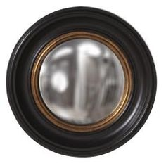 @Overstock - This Albert mirror is finished in black lacquer with mottled gold leaf Inset and convex mirror in the center. This mirror can give you a new outlook on life.   http://www.overstock.com/Home-Garden/Albert-Convex-Black-Mirror/6765624/product.html?CID=214117 $113.99