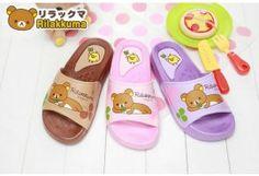 San-x Rilakkuma Kid's Girls Soft Slippers Shoes KM2649