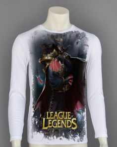 Plus size Twisted Fate 3D t shirt for men League of Legends long sleeve tee shirt-