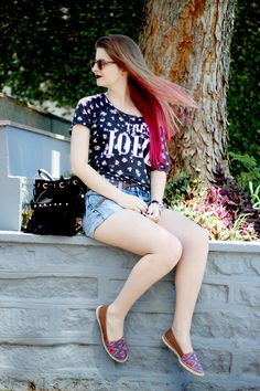 Meninices da Vida: Look: Valentina flats, short e t-shirt.