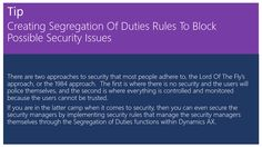 Creating Segregation Of Duties Rules To Block Possible Security Issues