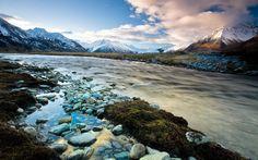 Sidelined Landscape,mt Cook, New Zealand
