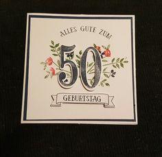 """Geburtstagskarte - Stampin up Stempelset """"so viele Jahre"""""""