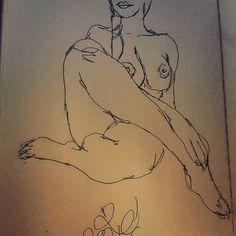 "#sketch of #redditor ""ms_gault"" #redditartistnetwork #pinup #cheesecake #drawing"