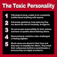 Recognizing Toxic People *you wouldn't know integrity if it slapped you in the face*