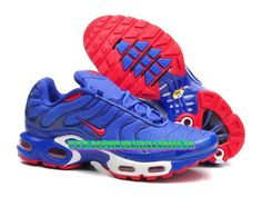 new style ea560 397e7 Nike Air Max TnTuned Requin 2015 Pas Cher Chaussures Pour Homme  Bleublancrouge