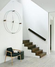 Large Wall Clock / beautiful wood finish