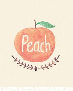 Peach https://www.etsy.com/listing/124157997/peach-8x10-art-print