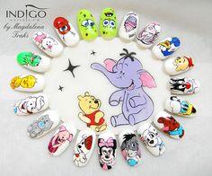 Disney Acrylic Nails, Disney Nails, Long Acrylic Nails, Cute Acrylic Nail Designs, Creative Nail Designs, Creative Nails, Disney Inspired Nails, Nail Art Wheel, Xmas Nail Art