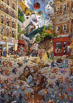 En este curioso puzzle de la marca Heye (de 2000 piezas) tendrás que montar una curiosa representación del Apocalipsis. ¿Os atrevéis con el reto?