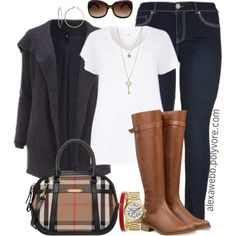 """Plus Size - Simple Fall"" by alexawebb on Polyvore"