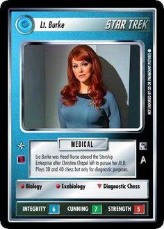 Star Trek Ccg, Star Trek Cosplay, Starship Enterprise, Collector Cards, Female Characters, Science Fiction, Random Stuff, Sci Fi, Gifs