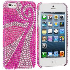 Phoenix Tail Bling Rhinestone Case Cover for Apple iPhone 5 / 5S