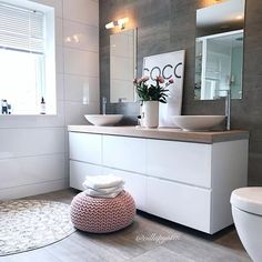 Salle de bain scandinave home interior inspo dom, wnętrza, łazienka. Bathroom Goals, Laundry In Bathroom, Bathroom Ideas, Bathroom Interior, Modern Bathroom, Simple Bathroom, Contemporary Bathrooms, Pinterest Bathroom, Sweet Home