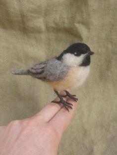 Reserviert für Sheri Needle Meise Leben Größe Vogel von Ainigmati