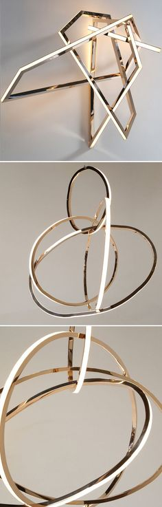 Gasp! Bronze, glass, LEDs… the simple but elegant ingredients that go into these stunning sculptures, that happen to double as lighting! I'm kicking off my week in Dublin by featuring the breathtaking
