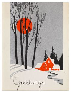 Ciao Domenica: Art 1935 Christmas card