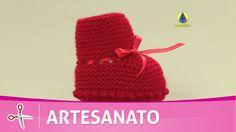 Vida com Arte | Sapatinho de bebê em tricô por Jaqueline Santos - 01 de ...
